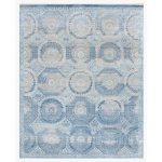 Exquisite Rugs Hand-Knotted Blue Area Rug Rug Size: 6' x 9'