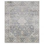 Fae French Antique Wash Slate Grey Bamboo Silk Rug - 4x6