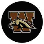 Fan Mats NCAA Collegiate Hockey Puck Round Area Rug - 2.25 diam. ft.