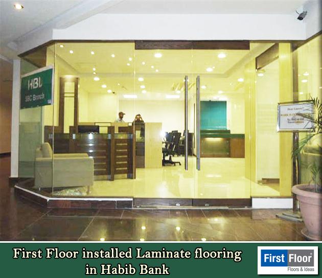 First Floor proudly installed #lamination Flooring at Habib Bank Limite…