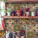 Fliesen / Wand / Treppen Aufkleber : Mexikanische Talavera Stil- 22 MODELLE - X 2 SETS (44 Stück)