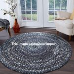 Floor Carpet Round Rug Circle Jute Area Floor Rugs Yoga Mat Indian Traditional Hand Stitched Hand-Woven Bohemian Vintage Rug 4x4 Feet Round