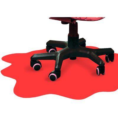 Floortex Hard Floor Beveled Chair Mat Color: Red