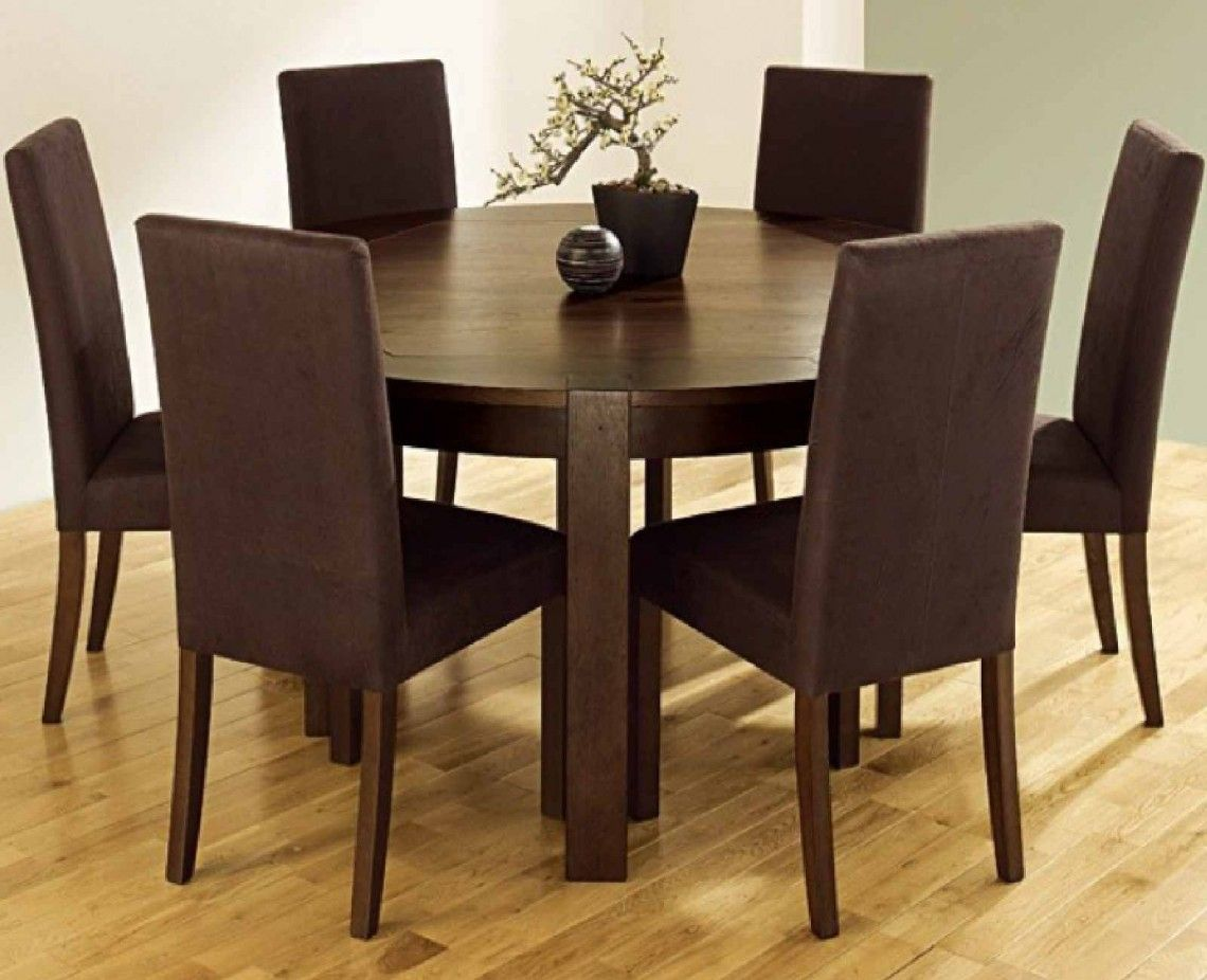 Furniture Nice Looking Brown Wood Round Kitchen Tables Chairs With Style Brown U…