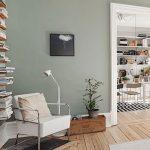 Grau / grünes Wohnzimmer, Holzboden,  #grunes #holzboden #wohnzimmer