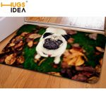 HUGSIDEA 3D Cute Pet Dog Entrance Doormat Non-Slip Soft Flanner Kitchen Carpet B...