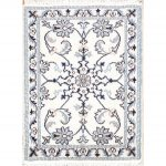 """Hand Knotted Wool and Silk Floral Nain Persian Area Rug - 2'10"""" x 1'10"""" (2'10"""" x 1'10"""" - Brown)"""