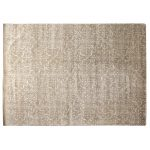 Hand-Knotted Wool/Silk Ivory Area Rug