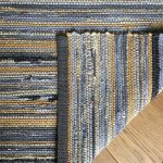 Handwoven Country Farmhouse Rag Rug/ Charcoal and Yellow Gold Handwoven Accent Rug/Hit and Miss Kitchen Throw Rug B220