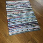 Handwoven Country Farmhouse Rag Rug/Colorful Handwoven Accent Rug/ Kitchen Throw Rug B195
