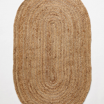 Handwoven Lorne Oval Rug by Anthropologie in White, Rugs