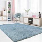 Hochflor-Teppich in Hellblau Carpet CityCarpet City