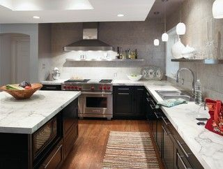 Kitchen Counters: Plastic Laminate Offers Options Aplenty. 3460 calacatta marble…