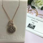 LE VAIN chocolate diamond necklace Le Vian launched Chocolate Diamonds® in 2000...