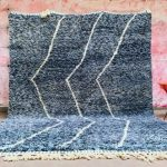 Large Blue Moroccan Rug 8x11 - Gorgeous Moroccan Rug - Berber Authentic Rug - Genuine Vintage Beniourain Carpet Rug - Tribal Rug