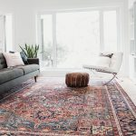Large Bold Area Rug. Vintage Heriz with red and blue colours. Great pop of colou...