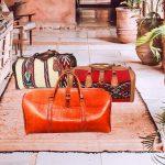 Large Leather Duffel Bag, Kilim Overnight Bag, Vintage Kilim Rug, Travel Bag, Hold all Bag, Handmade
