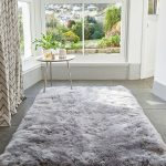 Large Luxurious Sheepskin Rug - Light Grey