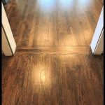 Love this transition  Red Oak Hardwood Floors refinished with Minwax 50 50 mix o...