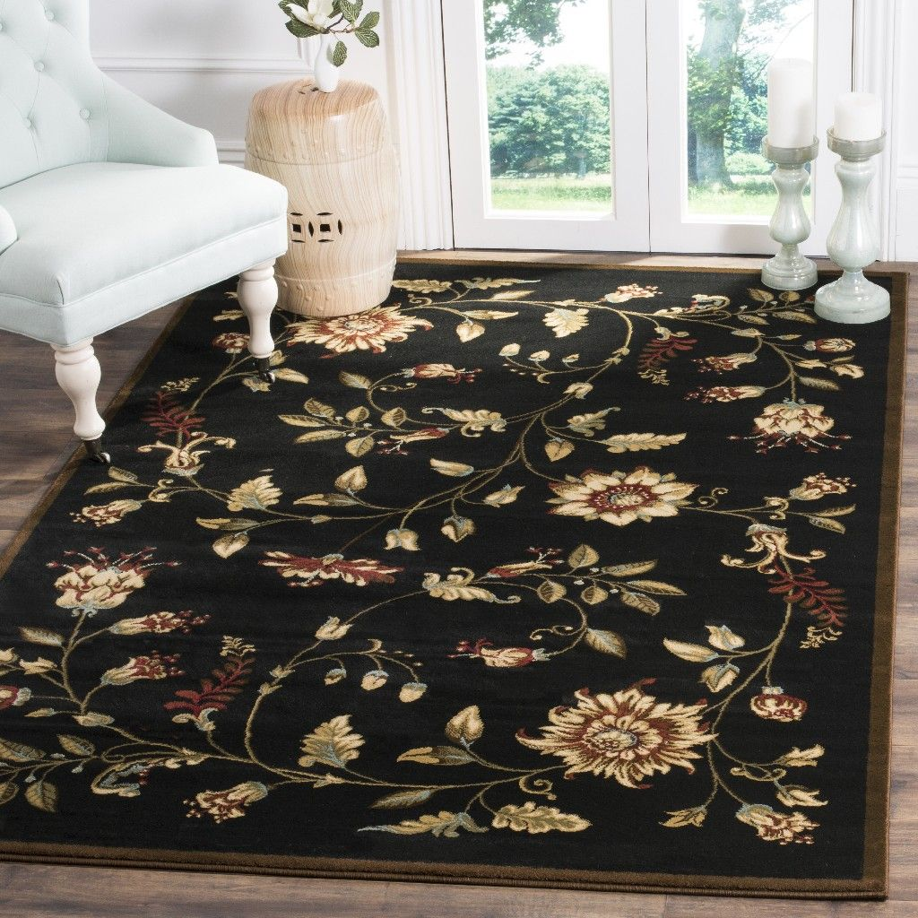 Lyndhurst Collection 5′-3″ X 7′-6″ Rug in Black And Multi – Safavieh LNH552-9091-5