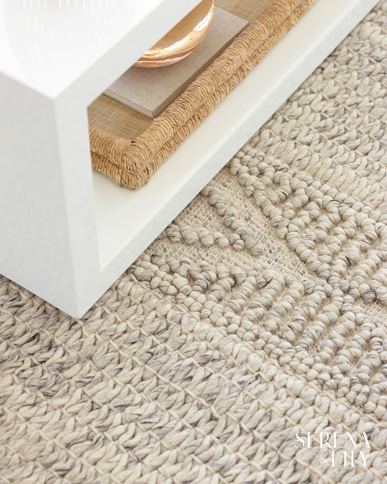 Made of 100% New Zealand wool, this gorgeously neutral rug is as gentle on your …