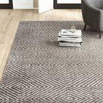"Mercury Row Marcelo Flat Woven Wool/Cotton Gray Area Rug Rug Size: Rectangle 7'6"" x 9'6"""