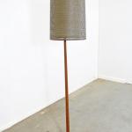 Mid-century Modern Scandinavian George Kovacs Double Shade Teak Floor Lamp