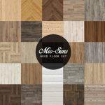 Mio Sims: Wood floor set