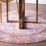 "Mistana Chayne Oriental Multicolor Area Rug Rug Size: Round 5'3"""