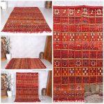 Moroccan rug, 5.5ft x 7.9ft, Boujaad rug, Hand knotted rug, Bohemian, berber carpet, berber rug