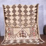 Moroccan rug, 6.3ft x 7.8ft, Azilal rug, wool rug, Hand knotted rug, Berber rug, Vintage rug