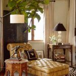 N This Room A Bamboo Lamp Table Joins With A Chesterfield-Style Chaise, A Morocc...