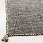 Naveen Handwoven Flatweave Cotton Beige/Black Area Rug