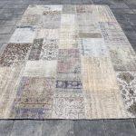 Oversized Rug,Big Patchwork Rug,Oversize Patchwork,Turkish Rug,Patch Rug,Wool Rug,Handmade Rug,Large Floor Rugs,6'9x10'0 Ft SKU:10164,CARPET
