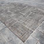 Oversized Rug,Gray Rug,Turkish Rug,Oushak Rug,Large Floor Rug,Vintage Rug,Anatolian Rug,Numadic Rug,Big area rug,7'7x8'7 Ft SKU:3736,Kilims