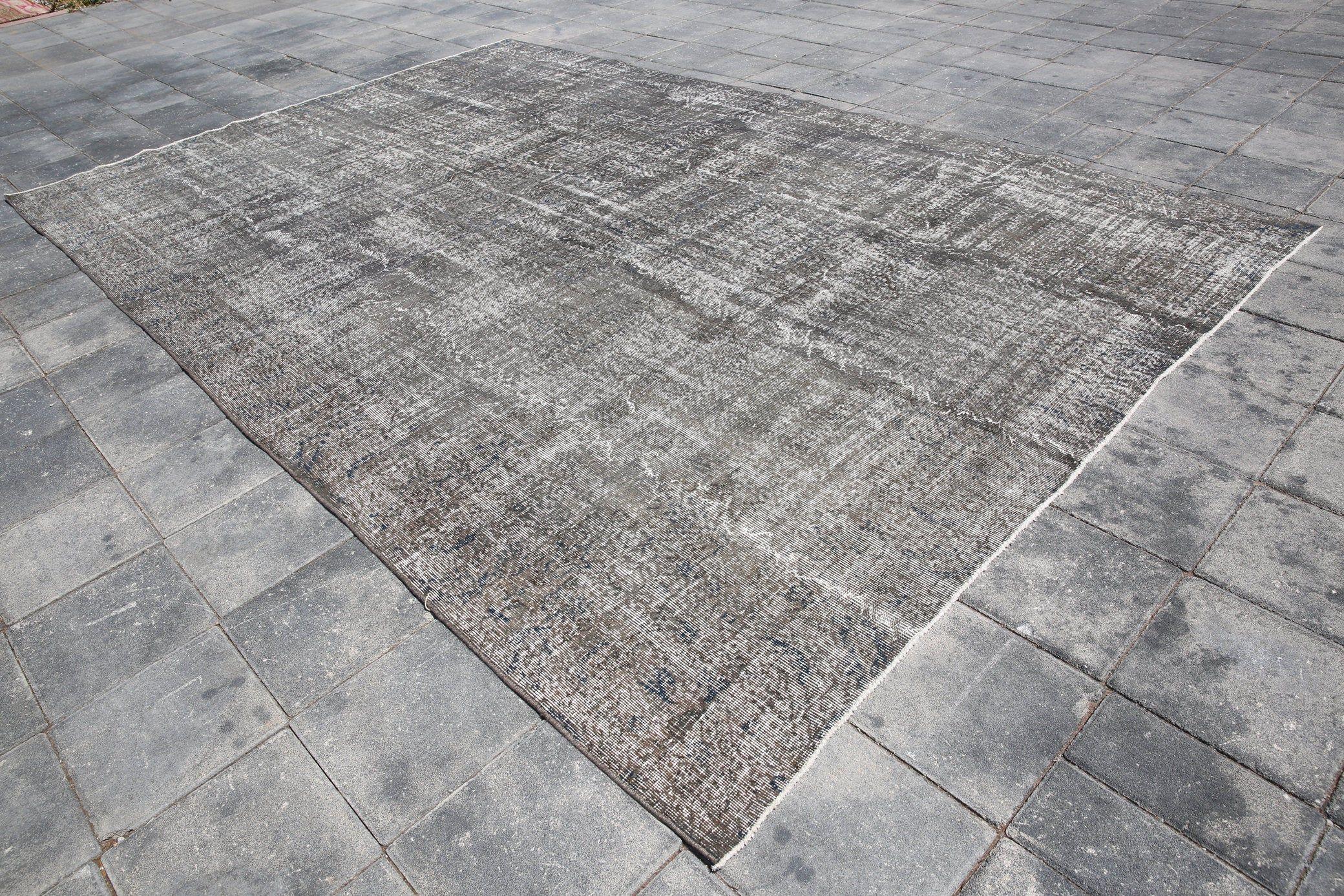 Oversized Rug,Gray Rug,Turkish Rug,Oushak Rug,Large Floor Rug,Vintage Rug,Anatolian Rug,Numadic Rug,Big area rug,7'7×8'7 Ft SKU:3736,Kilims