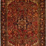 Persian Borchelu 4'10 x 8'4 Hand-knotted Rug in Red