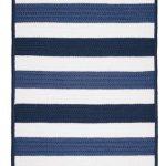 Portico Blue Nautical Stripes Rug