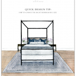 Quick Design Tip: How to Choose the Right Bedroom Rug Size | lark & linen