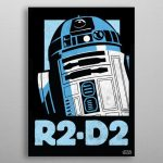R2-D2 Movies Poster Print | metal posters