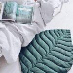 READY2SHIP! Blatt spielmatte aus natürlicher Leinen, grüne Farbe. Das beste Baby-Dusche-Geschenk