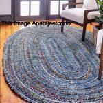 RUG, braided oval rug, meditation mat, mandala rug, bohemian decor, colourful area rug home decor rug floor rug oval rugs braided rug 3x4'