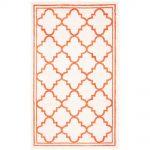 Safavieh Amherst Beige/Orange 3 ft. x 5 ft. Indoor/Outdoor Area Rug