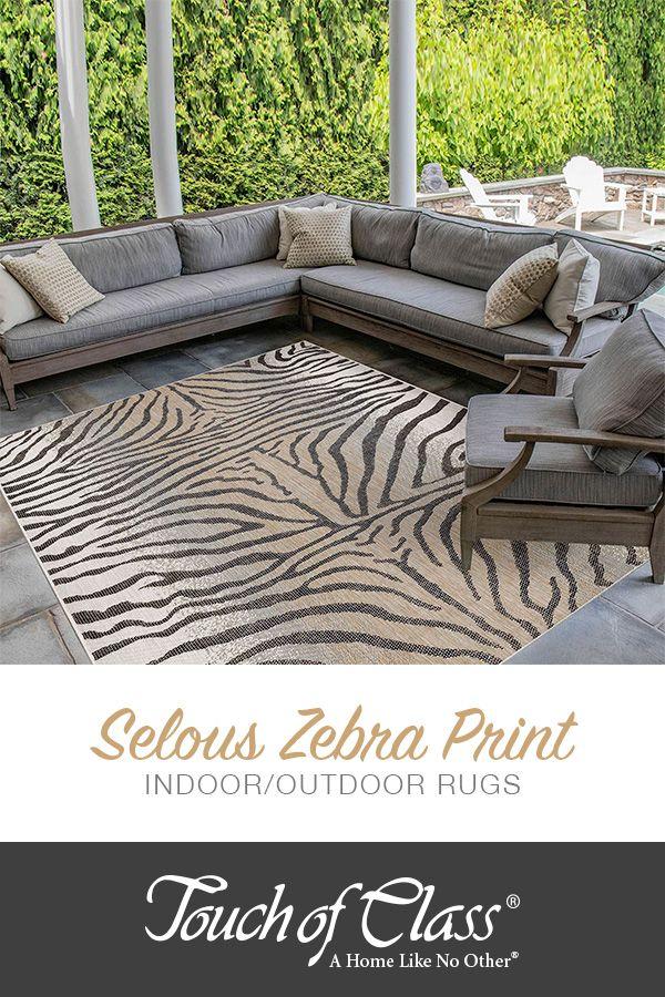 Selous Zebra Print Indoor Outdoor Rugs