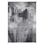 """Shahbanu Rugs Gray-Black Abstract Design Wool and Silk Hand-Knotted Oriental Rug (10'0"""" x 14'0"""") - 10'0"""" x 14'0"""""""