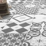 Shop the Vibe Grey Patterned Wall and Floor Tiles - 223 x 223mm for a striking Italian style! These patterned tiles are perfect for the floor and wall