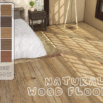 Sims 4 CC's - The Best: Natural Wood Floor V4 by Melly20x