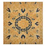 Small Scatter Square Size Gold Antique Chinese Rug