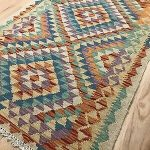 (Sponsored Link) Vintage Tribal Veg dye Hand-Made Kilim Area Rug 2.9x3.10 —WHO...