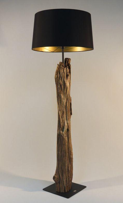 Stehlampe Holz modern